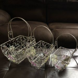 (#WEBN3) THREE WIRE NESTING EASTER BASKETS